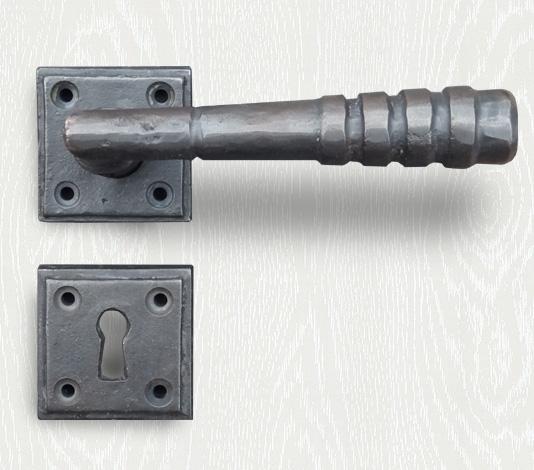 deurklink brons landelijk country zwart